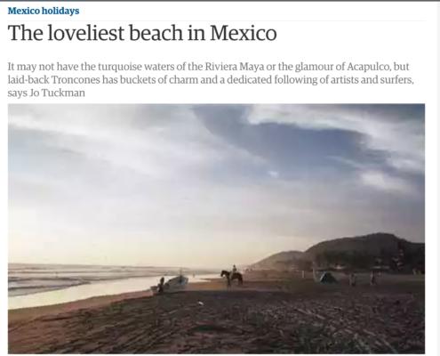 Troncones article, The Guardian