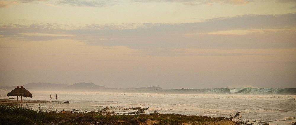 Huge summer surf swell in Troncones