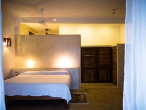 Casa Oasis Troncones vacation rental downstairs two bedroom beach house master bedroom