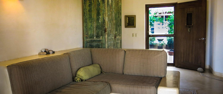 Casa Oasis Troncones Downstairs two bedroom beach house beachfront indoor living area
