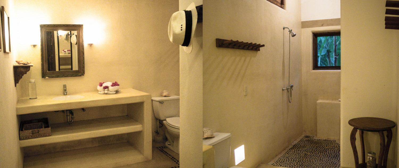 Casa Oasis Troncones vacation rental downstairs ensuite master bath